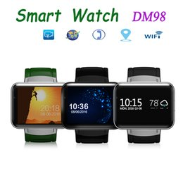 Wholesale Android Module - DM98 Smart 2.2 inch Color Screen Bluetooth Wristbands Bracelet SIM Watch Phone For IOS & Android With GPS Module WIFI download Video Call