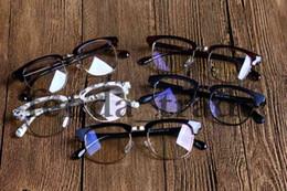 nerd brille klare linsen Rabatt 5050 Klassische Retro Klare Linse Nerd Frames Brille Mode Neue Designer Brillen Vintage Halben Metall Brillen Rahmen