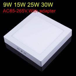 9w 15w 25w 30w Montaje en superficie de techo LED Downlight Luz de panel cuadrado Lámpara de techo ultrafina Luz de sala de cocina Regulable desde fabricantes