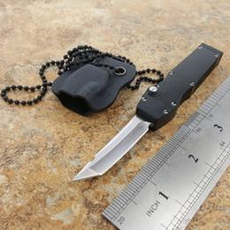 Wholesale Knife For Survival - OEM Mict mini halo V D2 tanto blade single action neck Pocket Knife Survival Knife A07 A162 A161 616 A163 C07 Xmas gift for men 1pcs