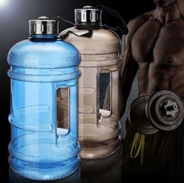 2019 bottiglie d'acqua per l'esecuzione Bottiglia d'acqua di grande capacità 2.2L Sport all'aria aperta Palestra Spazio Mezzo gallone Allenamento fitness Campeggio in esecuzione bottiglia d'acqua allenamento