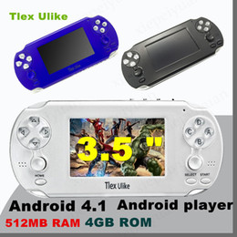 Wholesale android mp4 support - DHL Tlex Ulike Android 512MB RAM 4GB ROM Handheld TV Game Console Bluetooth Wifi HDMI Video Support MP4 MP5 NES FC SFC MD Android player
