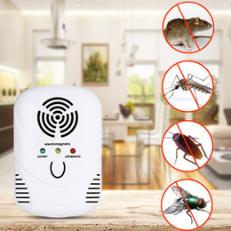 Wholesale cockroach traps - Electronic Ultrasonic Mosquito Repeller Mouse Mosquito Repellent Killer Mouse Cockroach Trap Insect Rats Spiders Pest Control