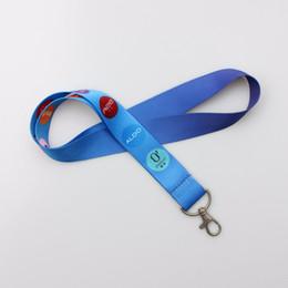 Cordão personalizado on-line-1000 pçs / lote DHL livre shiping Personalizado colhedor de 20mm de largura sublimação de poliéster cordão de Transferência de Calor Logotipo, colhedores personalizados