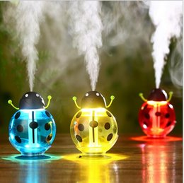 Humidificateur nébuliseur en Ligne-EN stock USB Portable Ultrasons Beetle Humidificateur Purificateur D'air Nébuliseur DC 5 V ABS Lampe de Bouteille LED Maison Veilleuse Humidificateur De Voiture
