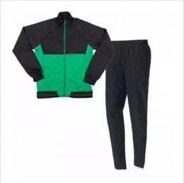 Wholesale men s winter jacket blue - Top Quality 2017 2018 Real betis Soccer Jacket Kit Joaquin Sanabria men clothing Soccer Jacket Kits 2017 2018 betis Football Training suit