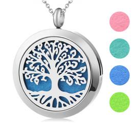 """K1175 Argent Couleur arbre de vie perles cage Aroma Diffuseur Charme Collier 18/"""""""