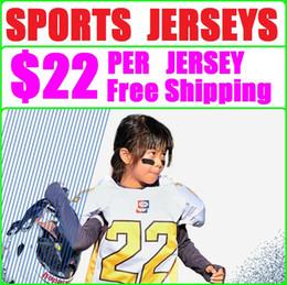 Jerseys de fútbol cosido online-Cualquier Jersey Deportes Jersey Mixed Outdoor Ropa deportiva al aire libre Wear Custom coloege jerseys de fútbol personalizados 100% cosido womens para hombre