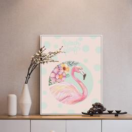 quadros de cartaz a4 Desconto Modern Bonita Flamingo Unicorn Animal Poster A4 Imagem Arte Moderna Sala de estar Decoração de Casa Lona Sem Moldura