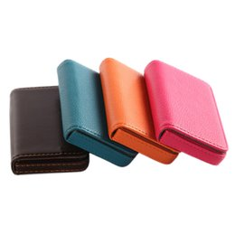 Wholesale Packaging Book - 1PC PU Large Capacity Senior Name Card Holder Card Package PU Leather Business Holder Book High Quality