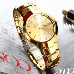 21ef34dcddb Mens Relógios Top Marca de Luxo Homens De Aço De Tungstênio de Ouro ultra  fino Relógio de Pulso Auto Data Relógio de Quartzo relogio masculino Novo