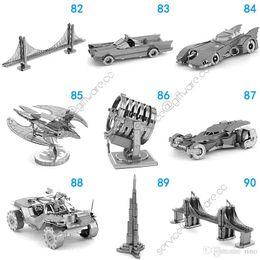 metallguss Rabatt Metall 3D Puzzles Montage Spielzeug 168 Designs Modell DIY Millennium Falcon Tie Fighter 3D Metallic Nano Gebäude Puzzle für Erwachsene und Kinder