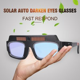 Solar Auto Escurecimento Máscara De Solda Capacete de Soldagem Óculos de Proteção de Óculos de Proteção / Soldador Capacete de Proteção de Arco para Máquina de Solda / Equipamento cheap welder goggles de Fornecedores de óculos de soldador