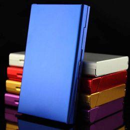 humidor zubehör Rabatt Aluminiumlegierung dünne Zigarette Fall Tabak Halter Pocket Box für Zigaretten Lagerbehälter Rauchen Zubehör 6 Farben