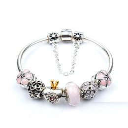 Wholesale Brand New Pandora Bracelet - Brand new high quality 100% plateinum plated snake chain shape clasp bracelet fit fashion pandora bracelet DIY