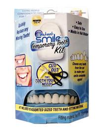 2019 puesto de libro blanco Juego de dientes temporales Instant Smile DELUXE 3 SHADES of Temporary Teeth Included