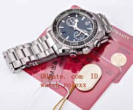 Wholesale men sapphire bracelet - Mens Limited Edition om Factory Black dial CAL.9900 stainless steel bracelet Men Planet Sapphire Crystal Co Axial Sport Luminous Wristwatch