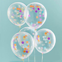 Wholesale Air Suppliers - 12inch Magic Foam Confetti Balloons Giant Clear Balloons Party Wedding Party Decorations Birthday Party Suppliers Air Balloons