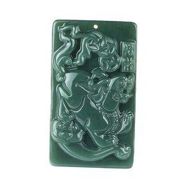 Wholesale Jade Talisman - 100% Pure Natural Green Jade Talisman Kylin Necklaces Pendant Wholesale