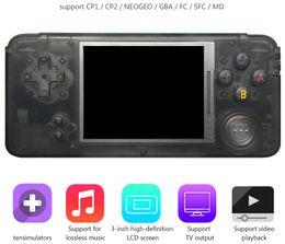 Gioco di arcade tv online-RETROGAME Handheld Game Player 64bit LCD da 3 pollici può memorizzare 3000 giochi Console di gioco portatile per CP1 CP2 NEOGEO GBA FC SFC Giochi in formato MD