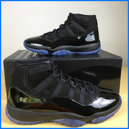 8d0cc2dc46f985 Newest 11 Prom Night Blackout Basketball Shoes Men Cheap Triple Black  patent leather Designer Sports Shoes with Box pc muscle outlet