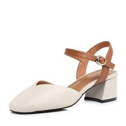 2018 Летние новые старинные коровьей обувь в слове толстый каблук Женские сандалии от
