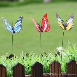2020 decorazioni di uccelli volanti decorazione del giardino Danza Volare Farfalle fluttering vibrazioni Fly Hummingbird Flying Birds Garden Yard divertente decorazione Outdoor Games decorazioni di uccelli volanti economici