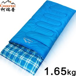 Wholesale Creeper Bags - CREEPER Outdoor Envelopes Splicing Camping Sleeping Bags Wide Spring Winter Ultra-light Long Sleeping Bags Lazy 220*80 CM