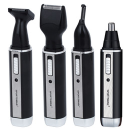 men nose hair Coupons - 4 In 1 Rechargable Ear Nose Trimmer Electric Shaver Beard Face Eyebrows Nose Ear Hair Trimmer Automatic Removal Shaver For Men