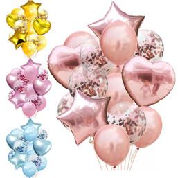 1-й день рождения Скидка Ребенок душ мальчик первый день рождения воздушный шар розовая девушка гелия фольги воздушный шар цифры 1 год 1-й день рождения украшения дети GA568
