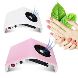 Wholesale Fan Plugs - Gustala 220V 110V Nail Fan Acrylic UV Gel Dryer Machine Nail Dust Collector Art Salon Suction Dust Collector Vacuum 30W Cleaner B