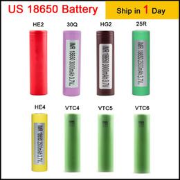 2019 fora da grade solar Alta Qualidade 18650 Bateria HG2 HE2 HE4 2500 MAH Baterias De Lítio Recarregáveis para LG Cells Fit Ecigs Vaporizador Vape box mod EC002