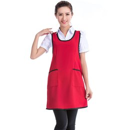 Wholesale Chef Waist Aprons - Home Kitchen Cooking Apron Dress Restaurant Chef Sleeveless Waitress Aprons Cleaning Apron For Women 5colors