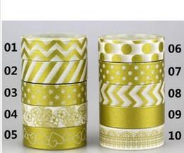 15mm * 10 m Altın Damgalama Ananas Meyve Japon Washi Bant Scrapbooking Araçları Papelaria Dekoratif Maskeleme bandı Lot 2016 nereden gotik maskeler tedarikçiler
