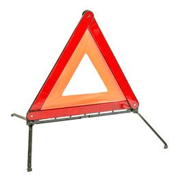 Wholesale Safety Warning Sign - Emergency Warning Triangle with PVC Reflective Material Foldable Safety Sign Roadside Hazard Symbol-Red Emergency Warning Triangle