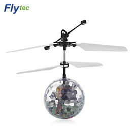 Wholesale Flight Metal - Helicopter Flytec RC Flying Ball Luminous Kid's Flight Balls Infrared Induction Helicopter Ball with Rainbow Shinning LED Lights for Kids