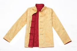 Historia de Shanghai Tang traje ropa tradicional china de dos caras desgaste collar chino camisa de la boda de la chaqueta para el hombre desde fabricantes