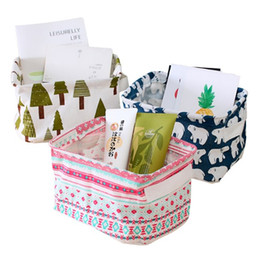 Прачечная хранения корзины коробка портативный хлопок белье складная корзина ткань игрушка Снэк организатор 5 Цвет 200 шт. wn374 от