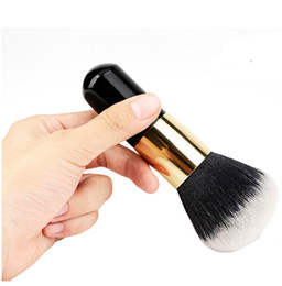 hair dome Coupons - New Big Size Face Flat Foundation Brush Short Handle Cosmetic Makeup Brush Dome Blush Women Beauty Makeup Tool