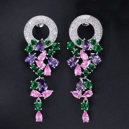 Wholesale Copper Wreath - The new shiny wreath party zircon earrings S925 pure silver earpins prevent allergies
