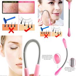 Макияж палочка для волос онлайн-Лицо волос на лице Весна Bend Remover эпилятор палку удаления волос резьба инструмент красоты макияж инструменты уход за кожей AAA308