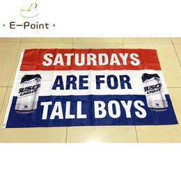 Busch Light Bud Beer Flag Saturday sono per Tall Boys 3 * 5ft (90cm * 150cm) bandiera poliestere Banner Decorazioni per la casa da bandiere della birra fornitori