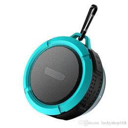 Canada C6 Douche De Sport En Plein Air Portable Étanche Sans Fil Bluetooth Haut-Parleur Aspiration Ventouse Mains Libres MIC Voix Boîte Pour iphone 7 iPad PC Téléphone Offre