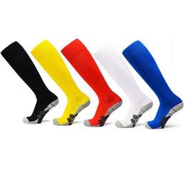 Wholesale Boy Games Kids - NeW World Cup Adult Soccer Socks Bid Kids Anti-slip Knee High Long Sock Outdoor Sports Professional Football Game Training Socks