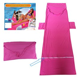 Wholesale Fiber Shops - Superstrong Water Uptake Beach Towel Double Layer Fabric Reclining Chair Cover Superfine Fiber Washcloth Beaches Chair Shop Towels 28dl Y