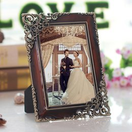 Wholesale Pictures Metal Homes - Vintage Metal Photo Picture Frames , Metal Picture Holders Ideal For Home Decor, Gifts, Wedding MPF024