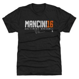 Abbigliamento all'ingrosso di marca online-Camicia Trey Mancini 500 LEVEL - Abbigliamento uomo baseball - Trey Mancini Mancini16 Uomo 2018 Marca fashion 100% cotone top maglietta all'ingrosso