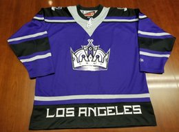 Argentina Venta al por mayor Los Angeles Kings Vintage Pro Player Hockey barato Tercer Jersey Purple Mens Retro Jerseys supplier pro jersey cheap Suministro