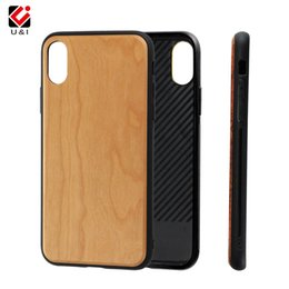 Wholesale Phone Blank Case - Universal for iPhone x, slim blank cherry bamboo wood case cover, mobile cell phone plain covers for iPhone 10 x, premium quality hot