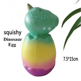 Wholesale toys dinosaurs dragon - 15cm Squishy Dinosaur Egg Toy Cartoon Dragon Egg Squeeze Slow Rising Phone Charms Home Decoration Novelty Items CCA9527 30pcs